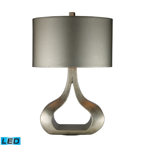 Dimond Lighting Dimond Lighting Silver Leaf LED Table Lamp with Oval Shade D1840-LED
