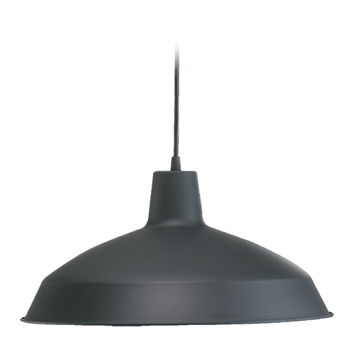 Quorum Lighting Quorum Lighting Matte Black Pendant Light with Bowl / Dome Shade 6822-59