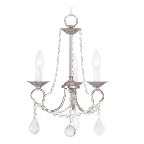 Livex Lighting Livex Lighting Pennington Brushed Nickel Crystal Chandelier 6513-91