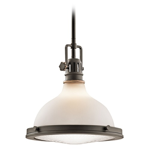Kichler Lighting Kichler Lighting Hatteras Bay Pendant Light with Bowl / Dome Shade 43765OZ
