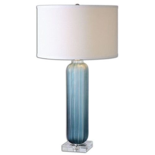 Uttermost Lighting Uttermost Caudina Frosted Blue Glass Lamp 26193-1