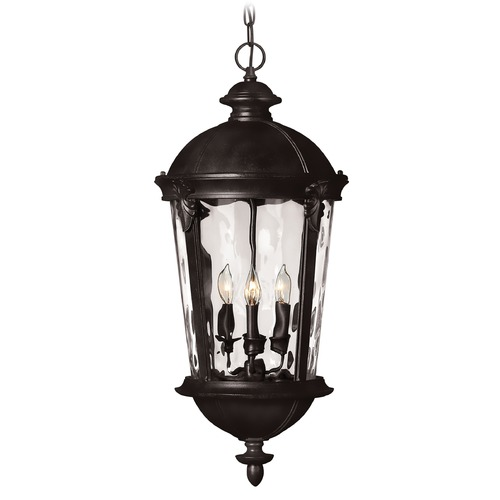 Hinkley Lighting Hinkley Lighting Windsor Black LED Outdoor Hanging Light 1892BK-LED