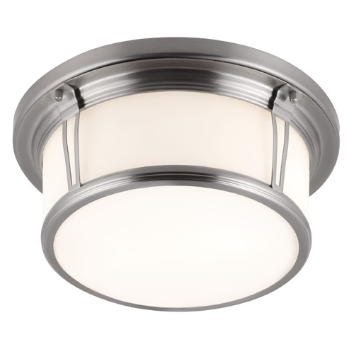 Feiss Lighting Feiss Lighting Woodward Brushed Steel LED Flushmount Light FM388BS-LED