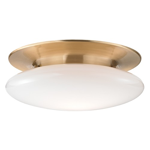 Hudson Valley Lighting Irvington LED Flushmount Light - Satin Brass 7018-SB