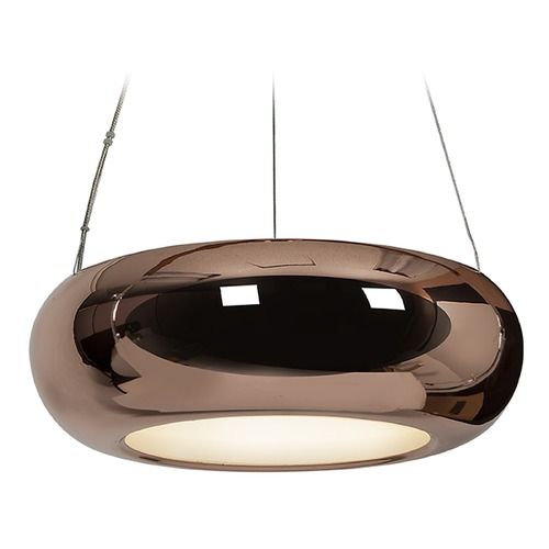 Access Lighting Access Lighting Essence Rose Gold LED Pendant Light with Oblong Shade 28095LEDD-RGLD