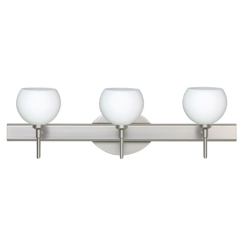 Besa Lighting Besa Lighting Palla Satin Nickel LED Bathroom Light 3SW-565807-LED-SN
