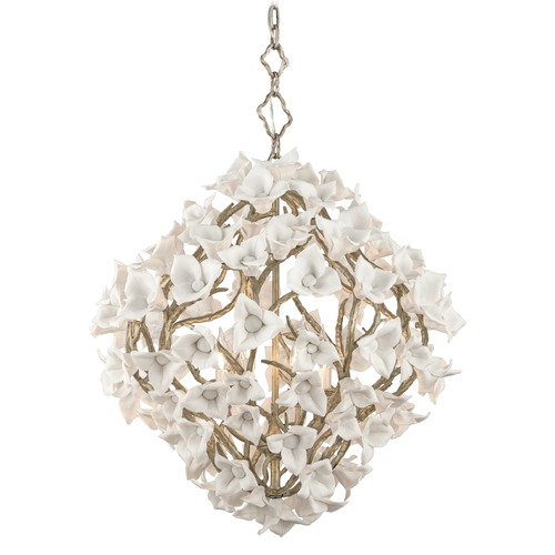 Corbett Lighting Corbett Lighting Lily Enchanted Silver Leaf Pendant Light 211-46