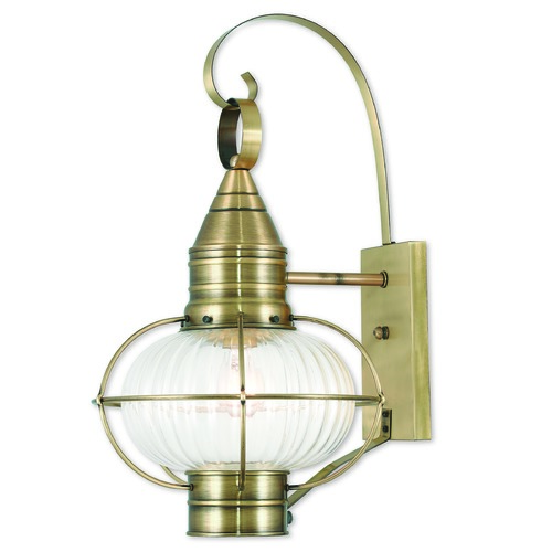 Livex Lighting Livex Lighting Newburyport Antique Brass Outdoor Wall Light 27004-01