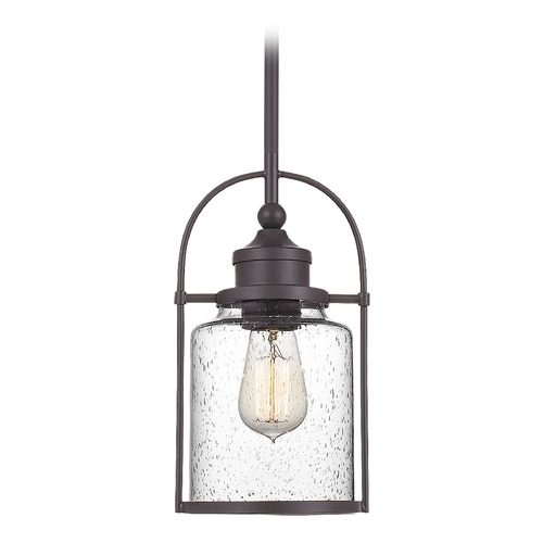 Quoizel Lighting Quoizel Lighting Payson Western Bronze Mini-Pendant Light with Clear Glass QPP2781WT