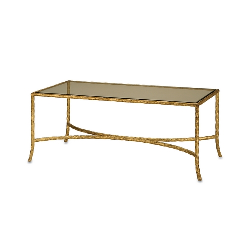 Currey and Company Lighting Coffee & End Table in Gilt Bronze Finish 4057