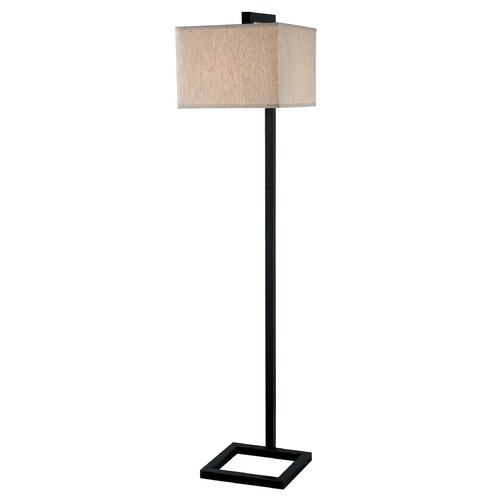 Kenroy Home Lighting Modern Floor Lamp with Taupe Shade in Oil Rubbed Bronze Finish 21080ORB