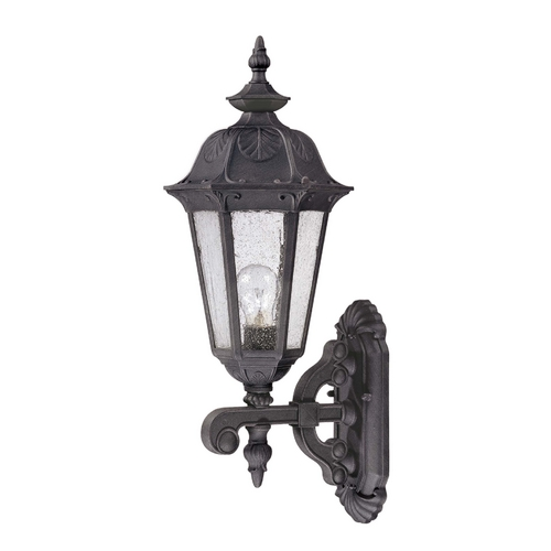 Nuvo Lighting Outdoor Wall Light with Clear Glass in Satin Iron Ore Finish 60/2033