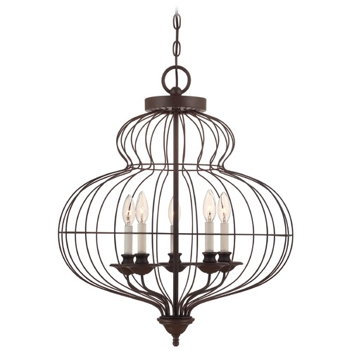 Quoizel Lighting Pendant Light in Rustic Antique Bronze Finish LLA5205RA