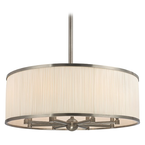 Hudson Valley Lighting Hastings 8 Light Pendant Light Drum Shade - Historic Nickel 5230-HN