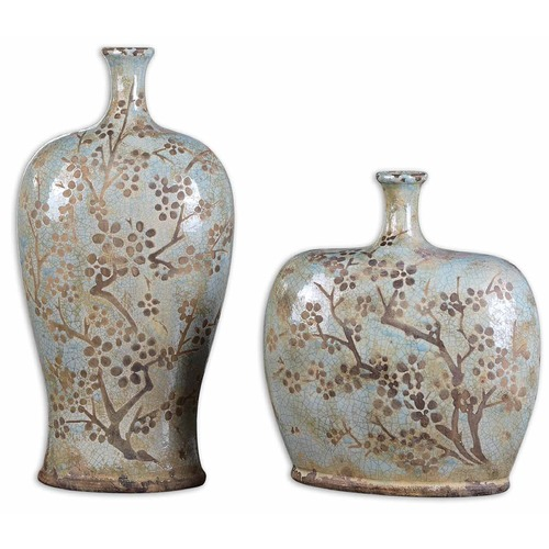 Uttermost Lighting Uttermost Citrita Decorative Ceramic Vases Set of 2 19658