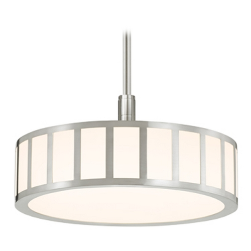 Sonneman Lighting Sonneman Lighting Capital Satin Nickel LED Pendant Light with Drum Shade 2520.13