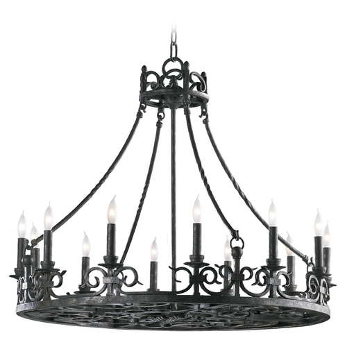 Quorum Lighting Quorum Lighting Lorenco Spanish Silver Chandelier 6093-12-50