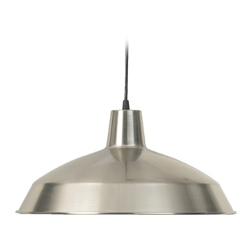 Quorum Lighting Quorum Lighting Satin Nickel Pendant Light with Bowl / Dome Shade 6822-65