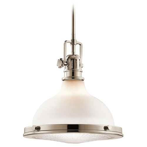 Kichler Lighting Kichler Lighting Hatteras Bay Pendant Light with Bowl / Dome Shade 43765PN