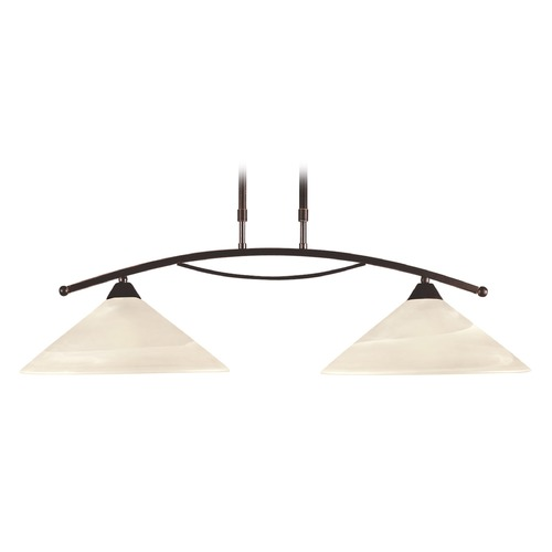 Elk Lighting Elk Lighting Oil Rubbed Bronze Island Light with Coolie Shade 16551/2
