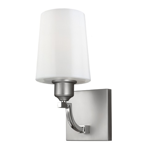 Feiss Lighting Feiss Lighting Preakness Satin Nickel / Polished Nickel Sconce WB1759SN/PN