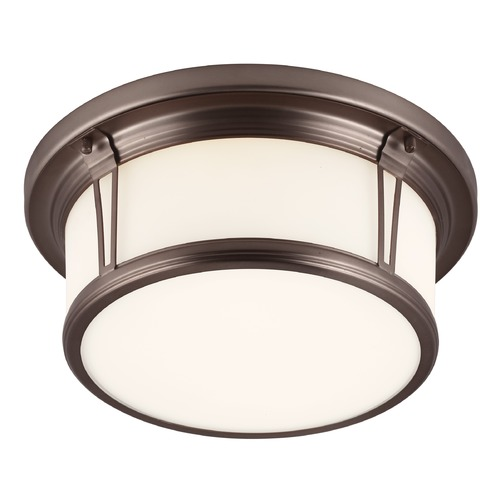 Feiss Lighting Feiss Lighting Woodward Chocolate LED Flushmount Light FM388CLT-LED