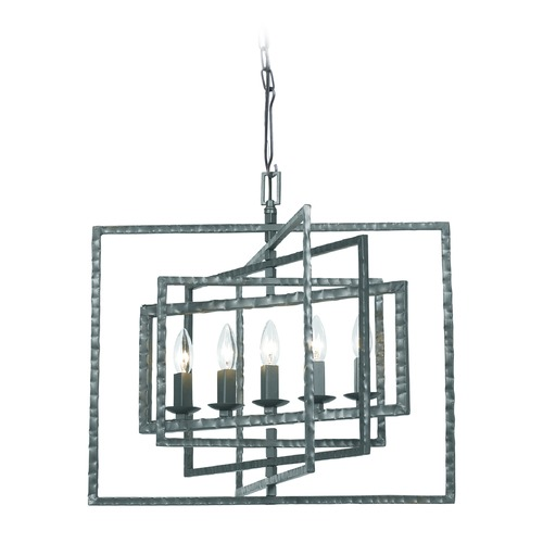 Crystorama Lighting Crystorama Lighting Capri Gray Pendant Light 336-GY
