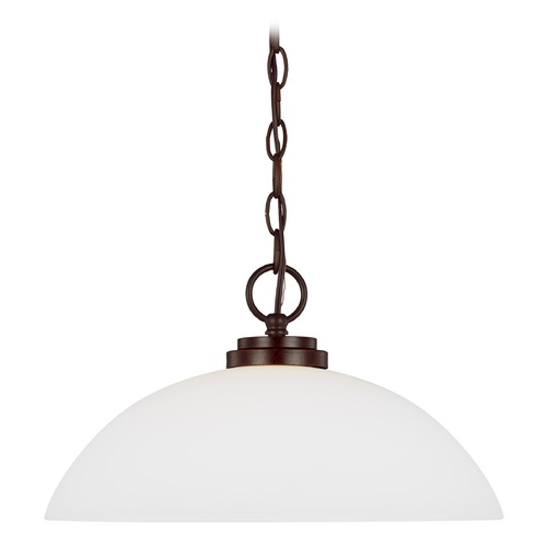 Sea Gull Lighting Sea Gull Lighting Oslo Bronze Pendant Light with Bowl / Dome Shade 65160-710