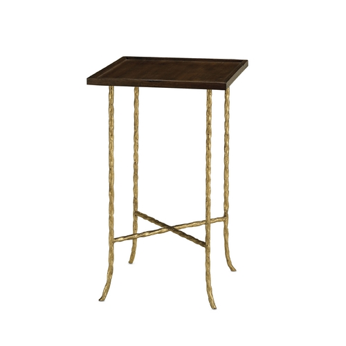 Currey and Company Lighting Accent Table in Gilt Bronze Finish 4054