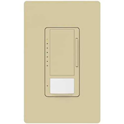 Lutron Dimmer Controls 600-Watt Switch with Occupancy/Vacancy Sensor in Ivory MS-OP600M-H-IV