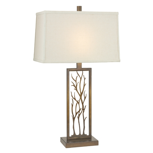 Design Classics Lighting Bronze Table Lamp with Rectangle Shade DCL 6916-1-604 SH7509