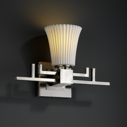 Justice Design Group Justice Design Group Limoges Collection Sconce POR-8701-20-PLET-NCKL