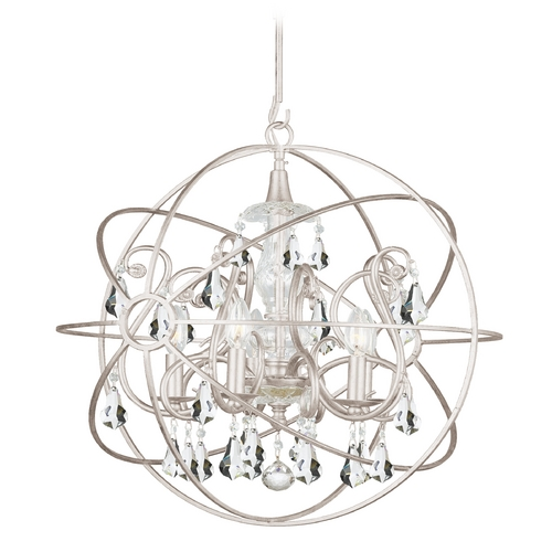 Crystorama Lighting Pendant Light in Olde Silver Finish 9026-OS-CL-MWP