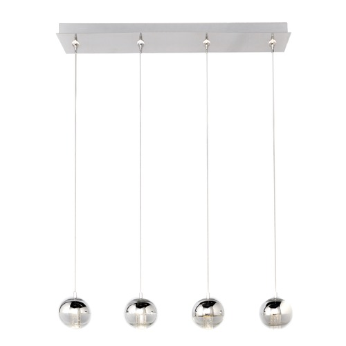 ET2 Lighting Zing Polished Chrome LED Multi-Light Pendant with Globe Shade E22565-81PC