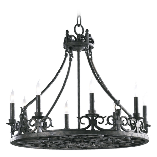 Quorum Lighting Quorum Lighting Lorenco Spanish Silver Chandelier 6093-8-50