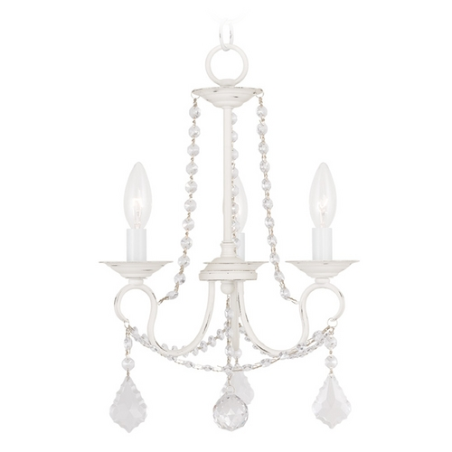 Livex Lighting Livex Lighting Pennington Antique White Crystal Chandelier 6513-60