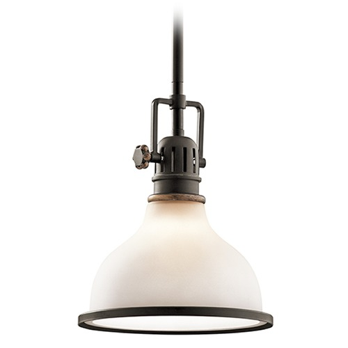 Kichler Lighting Kichler Lighting Hatteras Bay Mini-Pendant Light with Bowl / Dome Shade 43764OZ