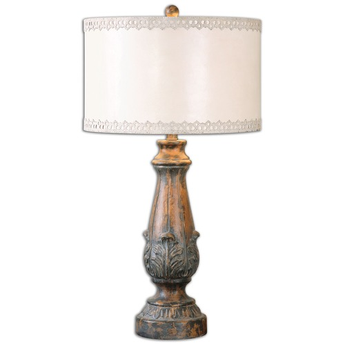 Uttermost Lighting Uttermost Valdarno Aged Pecan Table Lamp 26195-1