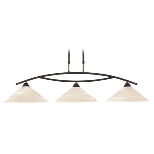 Elk Lighting Elk Lighting Oil Rubbed Bronze Island Light with Coolie Shade 16552/3