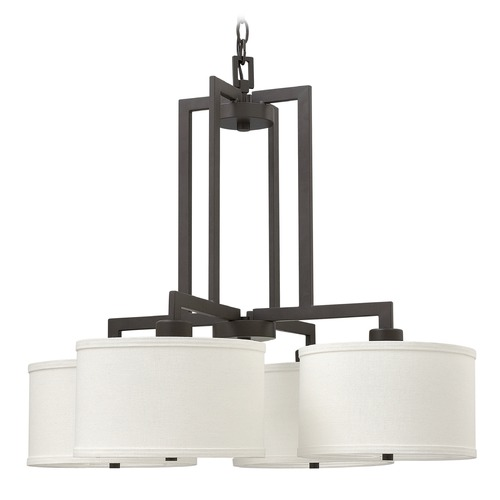 Hinkley Lighting Hinkley Lighting Hampton Buckeye Bronze Pendant Light with Cylindrical Shade 3214KZ
