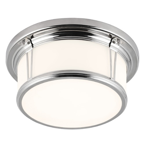 Feiss Lighting Feiss Lighting Woodward Polished Nickel LED Flushmount Light FM388PN-LED