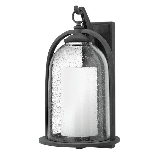Hinkley Lighting Hinkley Lighting Quincy Aged Zinc LED Outdoor Wall Light 2618DZ-LED