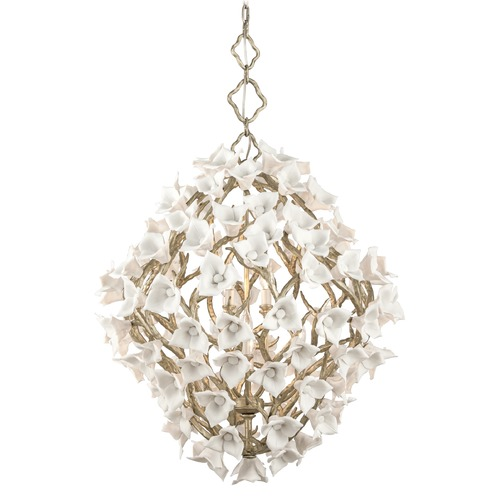 Corbett Lighting Corbett Lighting Lily Enchanted Silver Leaf Pendant Light 211-48