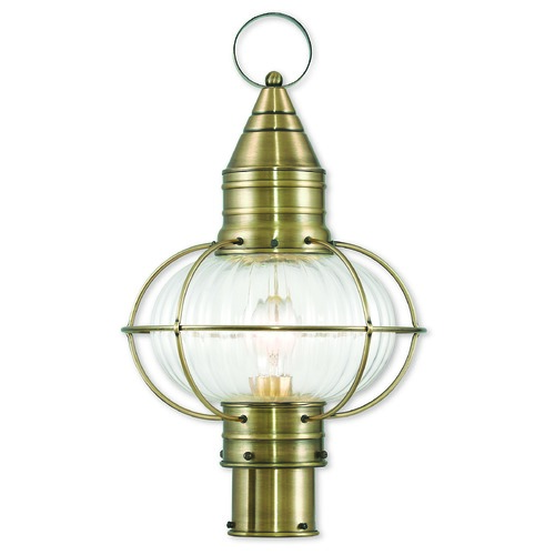 Livex Lighting Livex Lighting Newburyport Antique Brass Post Light 27005-01