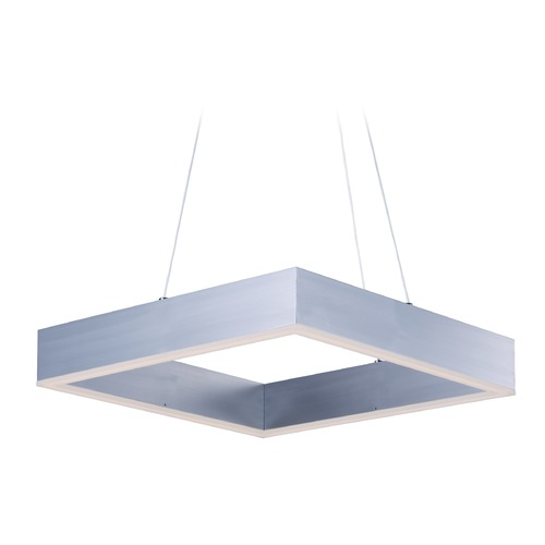 ET2 Lighting Metallika LED Brushed Aluminum LED Pendant Light E24295-AL