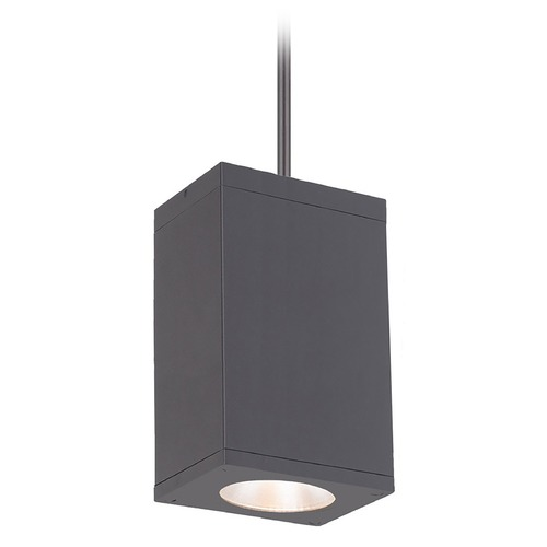 WAC Lighting Wac Lighting Cube Arch Graphite LED Outdoor Hanging Light DC-PD06-S835-GH