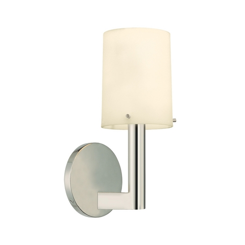 Sonneman Lighting Modern Sconce Wall Light with White Glass in Polished Nickel Finish 1911.35