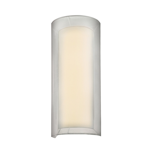 Sonneman Lighting Modern Sconce Wall Light with Silver Shade in Satin Nickel Finish 6017.13F
