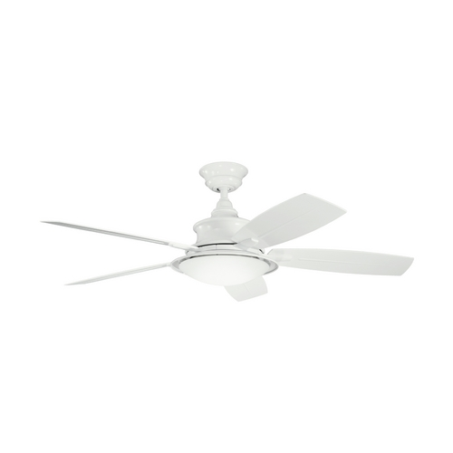 Kichler Lighting Kichler Ceiling Fan with Light with White Glass in White Finish 310104WH