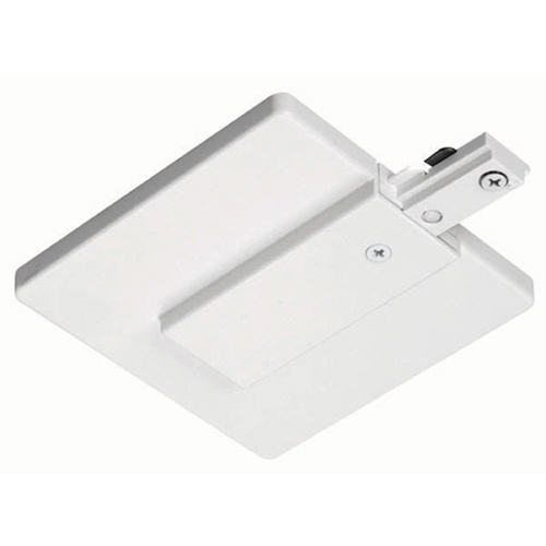 Juno Lighting Group Juno End Feed Connector and Outlet Box Cover in Silver Finish R21 SL